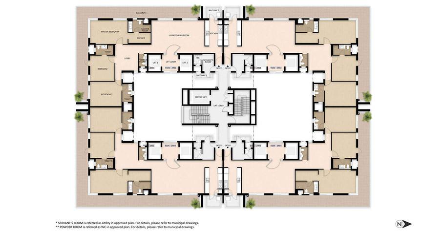 Mahindra Luminare Floor Plan - Tower A