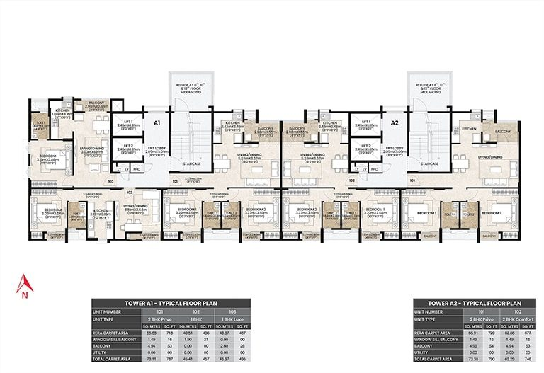 Mahindra Vicino Floor Plan