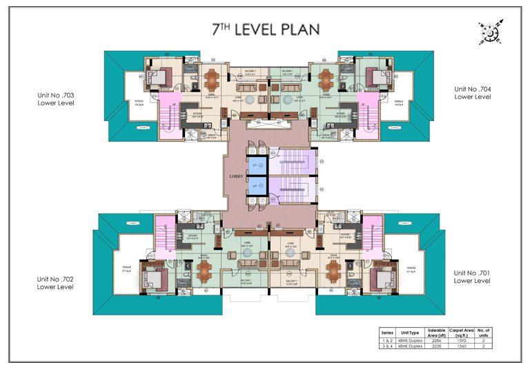 Aqualily Block C4 7th Floor Level Plan