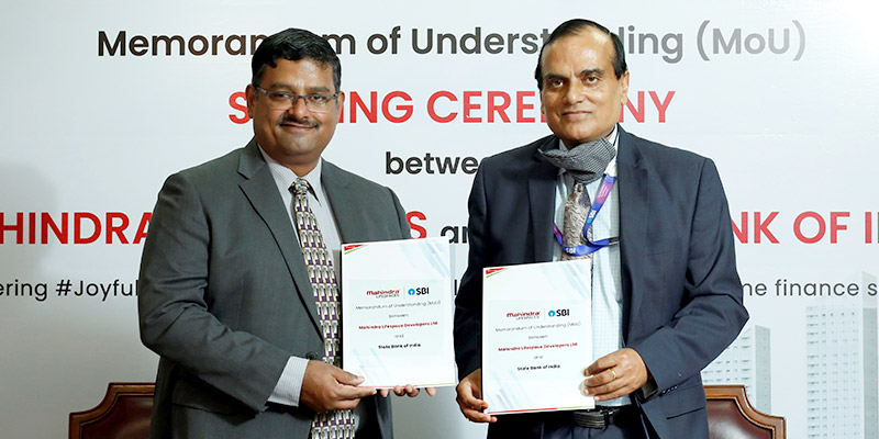 Mahindra Lifespaces and State Bank of India sign MoU